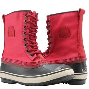 Sorel 1964 Candy Apple Red Premium Canvas Boot